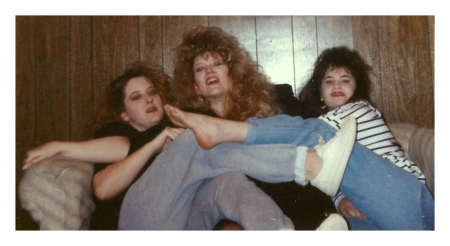 Michelle Jester, Delisa and Tanya clowning around 1990 1a