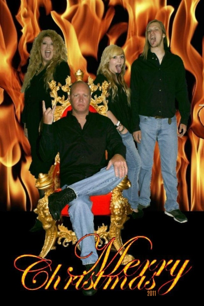 2011 Michelle Jester Christmas Card Gene Simmons